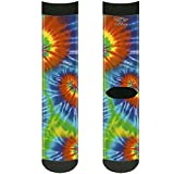 Buckle-Down Unisex-Adults Socks BD Tie Dye13, BD Tie Dye, Crew