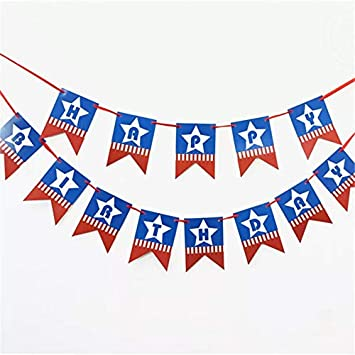 Amazon Com Captain America Theme Party Banner Hero Theme Party