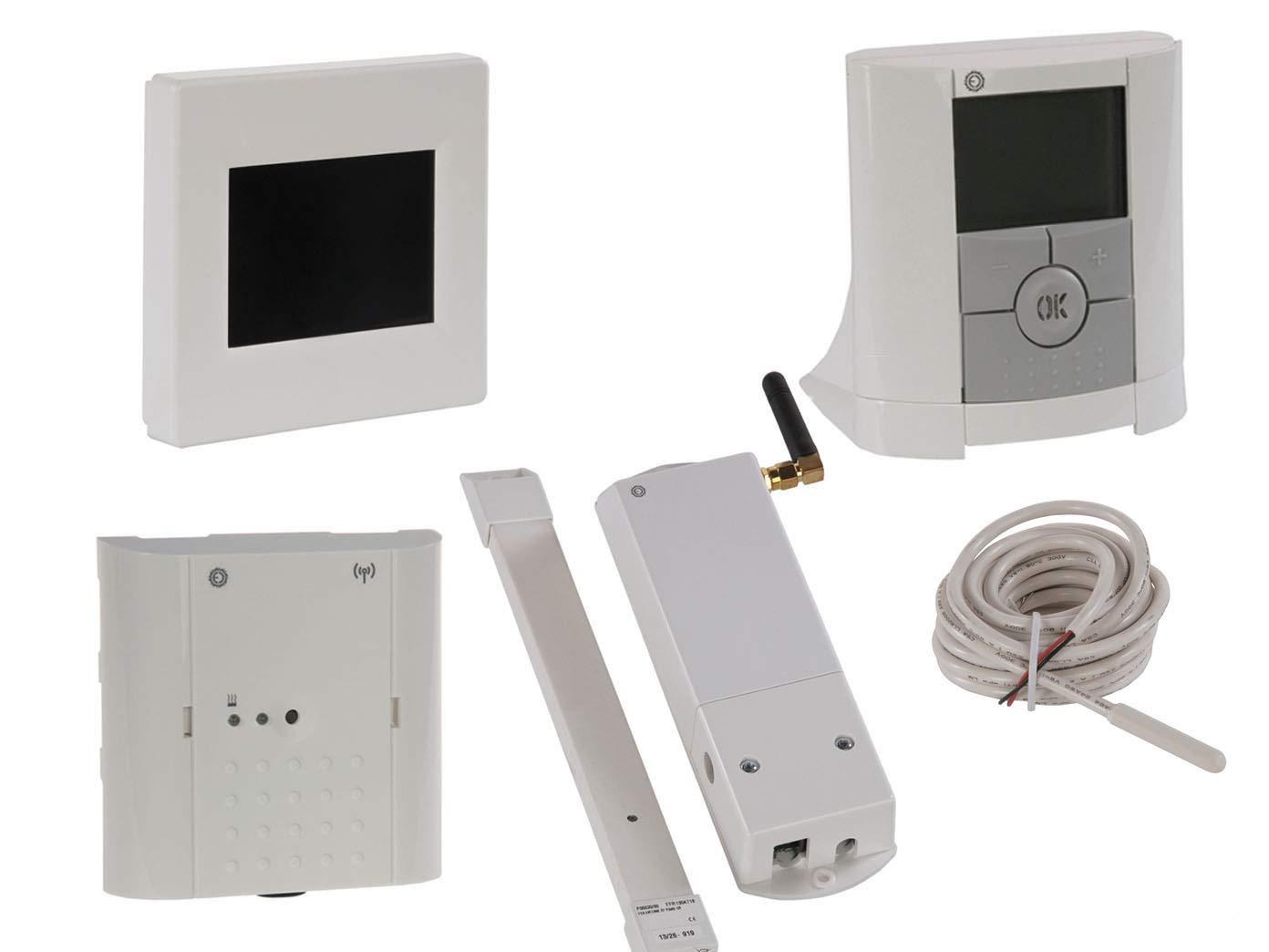 Unidad Central con termostato, receptor, módulo GSM y sonda ...