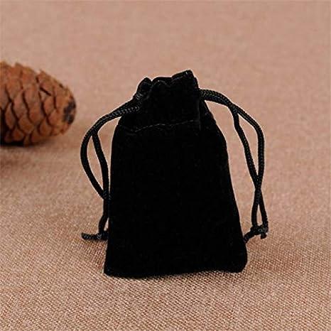 Li-ly Sac /à Cordon de Bijoux Sac de f/ête de Mariage Faveur de Cadeau Pochette de Voyage Sac de Rangement Noir Durable et Pratique
