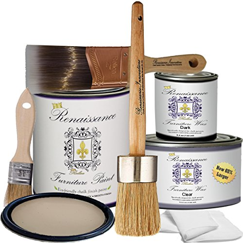 Retique It RFP-DSKit-Alabaster Furniture Paint, Deluxe Starter Kit, 11