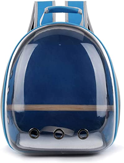 Fmingdou Pet Parrot Carrier Bird Travel Bag Space Capsule Transparent Backpack Breathable 360 Sightseeing