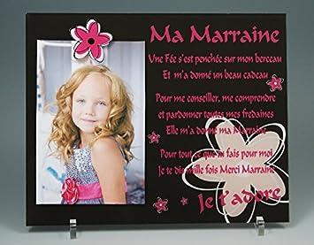 Cadre Photo Aimant Poème Pour Marraine Cadeau Parrain Marraine Baptême Communion