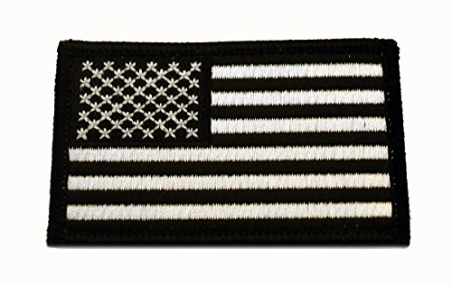 American Flag Patch, Swat (Black/White)