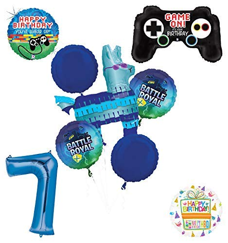 (Mayflower Products Battle Royal 7th Birthday Party Supplies Balloons Bouquet Decorations)