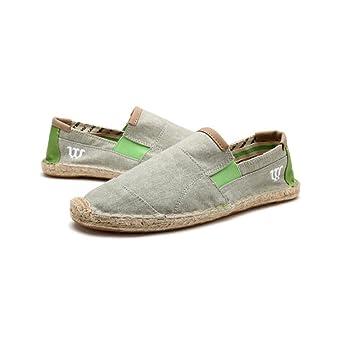 MuMa Alpargatas Hombres Elásticos Fit Cosidos A Mano Lino Suela Ocasionales Zapatos De Lona para Hombres (Color : 3, Tamaño : EU42/UK8.5/CN43): Amazon.es: ...