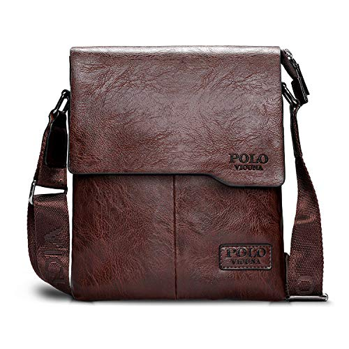 VICUNA POLO Shoulder Bag Business Man Bag Messenger Bag for Men Crossbody  Bag(khaki). by VICUNA POLO. Color  khaki 7b12f568fa522