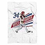 Bryce Harper Outline R Washington DC Fleece Blanket