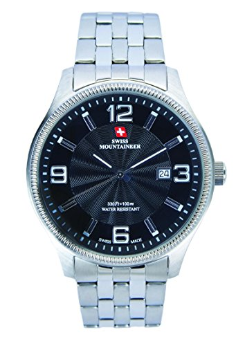 Swiss Mountaineer Men's 100M Water Resistant Dial Watch Black