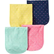 Carter's Baby Girls' 4-Pack Burp Cloths