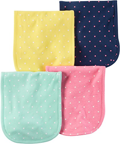 (Carter's Baby Girls' 4-Pack Burp Cloths )