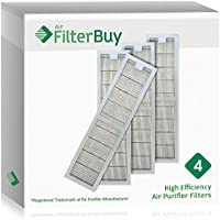 4 - Hunter 30973 Air Purifier Replacement Filter. Designed by FilterBuy to fit Hunter Models 30890 & 30895.