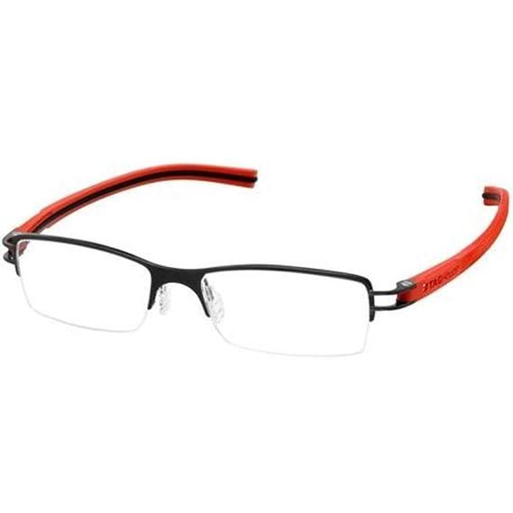 e484c2c3c1 Tag Heuer Track S Semi Rimmed 7621 010 Lava Red Black Size 57 mm Eyeglasses   Amazon.co.uk  Clothing