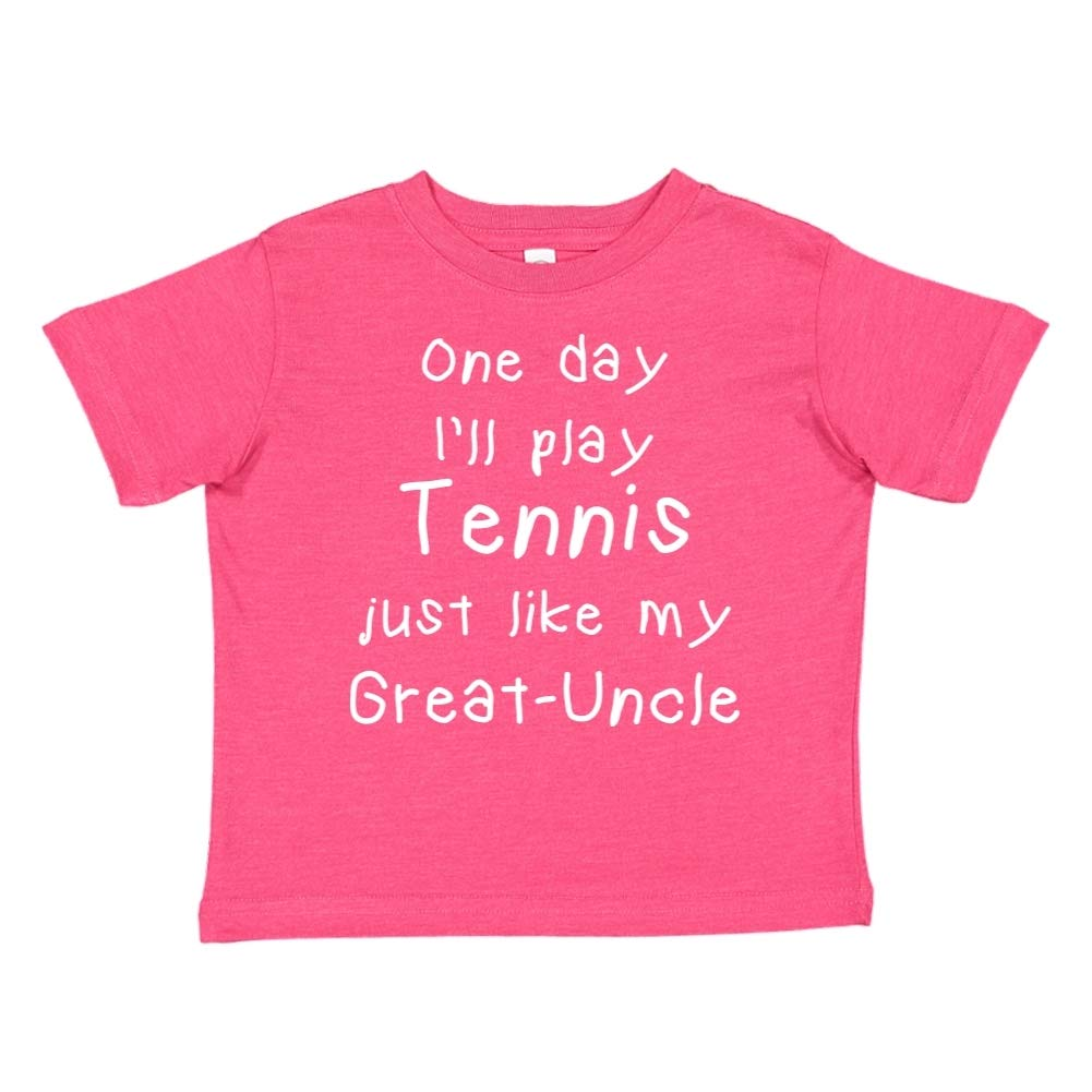 Toddler//Kids Short Sleeve T-Shirt One Day Ill Play Tennis Just Like My Great-Uncle