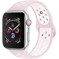jwacct Cinturino Apple Watch Compatibile 38 mm 40 mm 42 mm 44 mm, Cinturino in Silicone Morbido per iWatch Series 4/3/2/1