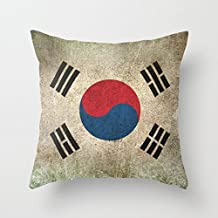 Flag Throw Cushion Covers 16 X 16 Inches / 40 By 40 Cm Gift Or Decor For Son Shop Teens Girls Divan Deck Chair Bedroom - Two Sides
