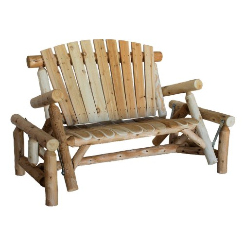 (Lakeland Mills CFU139 Cedar Log Glider Natural)