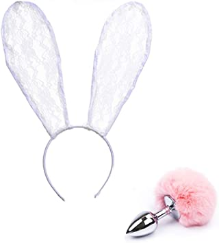 Juego de accesorios para disfraz, diseño de orejas de conejo ...