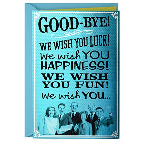 Hallmark Funny Coworker Goodbye Card from All of Us (We Wish - Cards Greeting Best Wishes