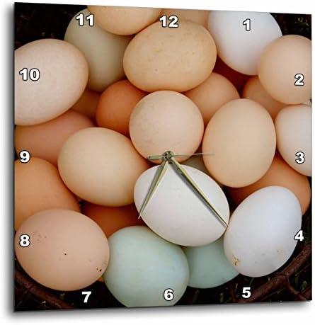 3dRose 3D Rose Chicken Eggs by Angelandspot-Wall Clock, 15-inch DPP_11391_3
