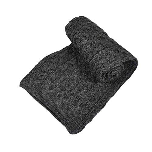 Merino Wool Scarf, Charcoal (Wool Scarf Charcoal)