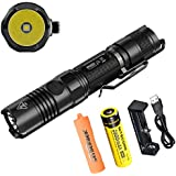 Bundle: Nitecore P12GT 1000 lumens Cree XP-L Hi V3 LED Flashlight With Battery and Charger With Skyben Battery Case