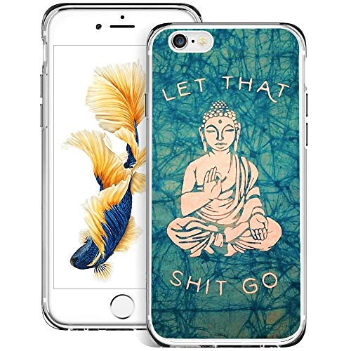 Buddha iPhone 6s Plus 6 Plus Clear Case,Ultra-Thin Transparent Soft Protection Cover,Personal Customization Hybrid Drop Flexible Shockproof Case Creative Zen Clear Case