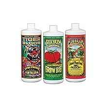 FoxFarm  FF79100 Big Bloom, Grow Big & Tiger Bloom Liquid Fertilizer Nutrient Trio Soil-Formula, 3/32-Ounce Bottles