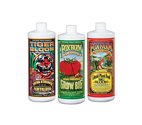 Fox Farm FX14049 Liquid Nutrient Trio Soil Formula: Big Bloom, Grow Big, Tiger Bloom (Pack of 3 - 32 oz. -