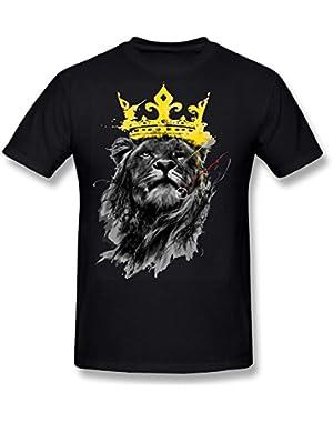 Blouse, Fashion Men T-Shirt Lion Print Plus Size Short Shirt Vest Tank
