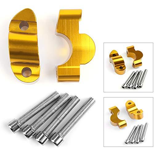 Topteng Riser 20mm Up w / bouten voor Su-to-ki GSX-S1000 & GSX-S1000F 2015-2018 goud