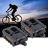Universal Plastic Mountain Bike Bicycle Folding Pedals Non-Slip Black