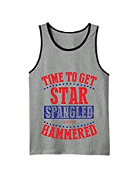 Time To Get Star Spangled Hammered Mens Tank Top