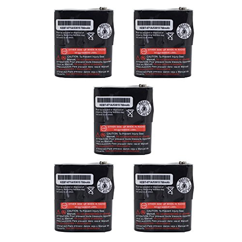 Karier 5Pcs 700mAh Replacement Ni-CD Two-way Radio Battery for Motorola Talkabout Radio MR350 MJ270 EM1000 MC220 T5000 FV500 FV800 T5950 T6000
