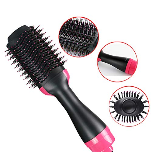 Hot Air Brush, One-Step 2 in 1 Hair Dryer & Volumizer Multi-functional Salon Negative Ion Hair Straighting & Curly Hair Comb -  XM-HAIRBRUSH, 653-591-586