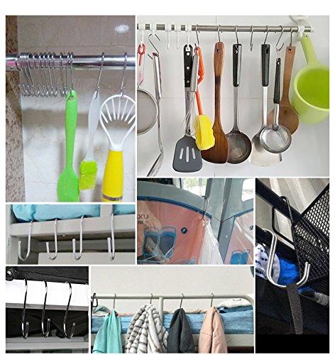 Joyshare 24 Pack S Ganchos Ganchos en Forma de S para Ba/ño Dormitorio Oficina y Cocina
