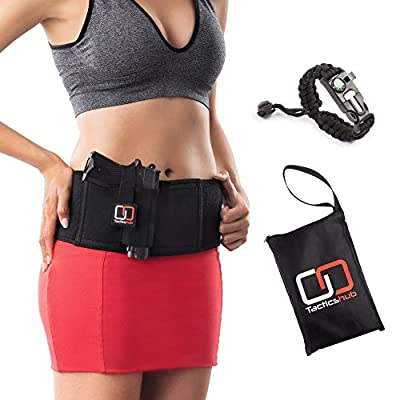 Tacticshub Belly Band Holster for Concealed Carry – Gun Holster for Women and Men that fits Glock, Smith Wesson, Ruger, and More - Waistband Holster for Pistols and Revolvers
