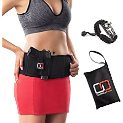 Tacticshub Belly Band Holster for Concealed Carry – Gun Holster for Women and Men that fits Glock, Smith Wesson, Ruger, and More - Waistband Holster for Pistols and Revolvers + Carry Bag
