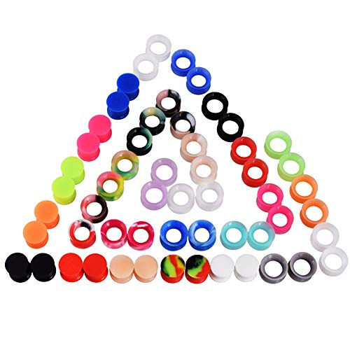 Oyaface 28 Pairs Soft and Solid Silicone Ear Skin Gauges for sale  Delivered anywhere in USA