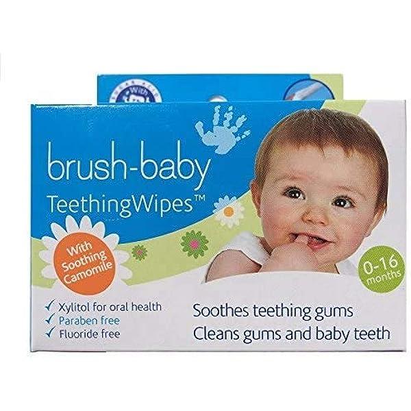 Toallitas de dentición Brush-Baby para bebés | Nacimiento ...