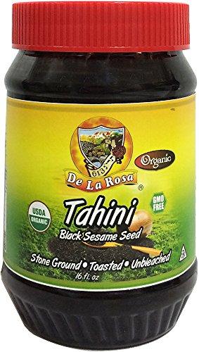 De La Rosa Kosher Organic Black Sesame Seed Tahini - 16 fl. oz by De La Rosa Real Foods & Vineyards