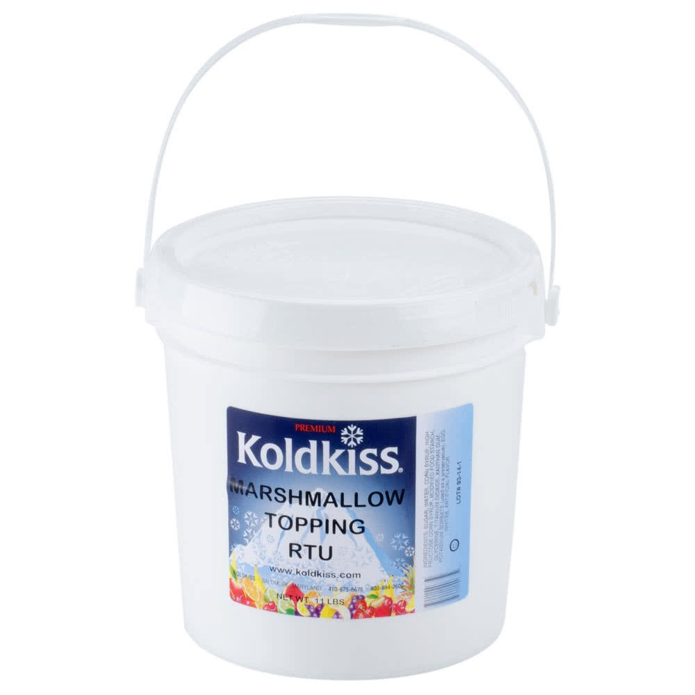 Koldkiss Marshmallow Ready to Use Snowball Topping - 11 lb. Pail By TableTop King by TableTop King