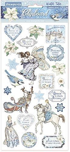 KFT STAMPERIA INTL Winter Tales CHIPBOARD STAMPERIA WNTR 3PL