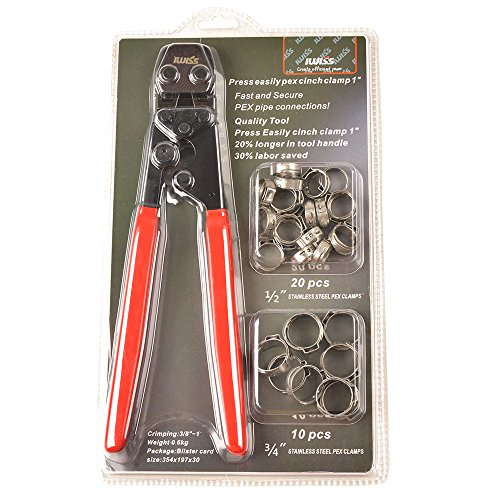 IWISS PEX Cinch Clamp Fastening Tool for Stainless Steel Clamps Sizes from 3/8