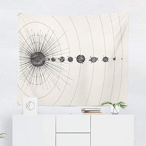 Solar System Tapestry Wall Hanging Space Planets Cosmic Tapestries Decor College Dorm Living Room Art Gift Bedroom Dormitory Bedspread Small Medium Large - Printed in the USA