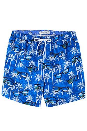 Brave Soul MSRT - Sunglasses Mens Swim Shorts - Blue/Multi - Size - Sunglasses British Designers
