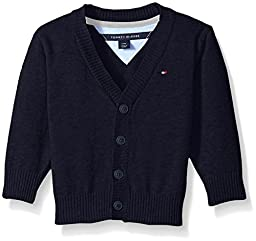 Tommy Hilfiger Baby Boys\' Long Sleeve Liam Cardigan, Swim Navy, 18 Months