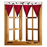 THEE Christmas Santa Hat Curtain Valance Window Decorations Decals