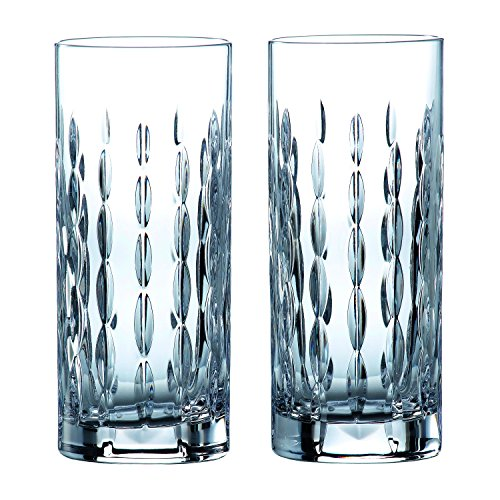 Royal Doulton Glass Highball Glass (Royal Doulton 40032732 Neptune Highball Glasses, 10.8 ounce, Clear)