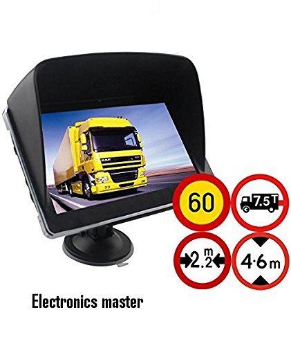 10,92 cm GPS navegador GPS incluye parasol para camión, coche, autobús, camper, bicicleta, ...